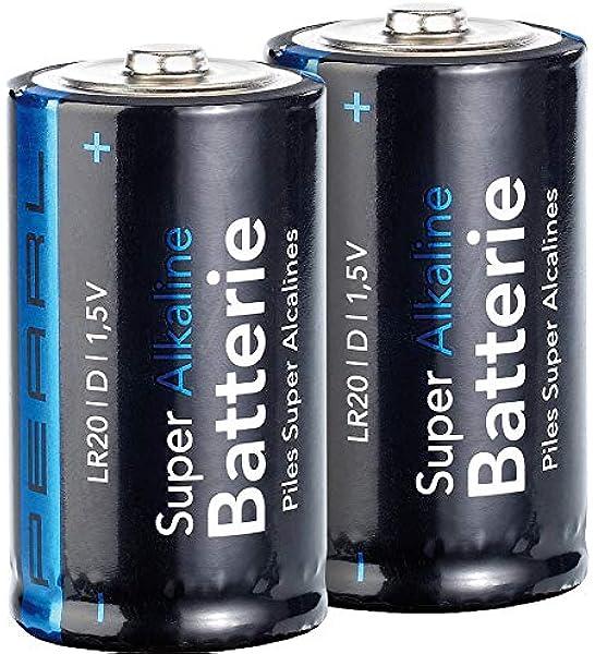 Pearl Monozelle 1 5 Volt Super Alkaline Batterien Mono 1 5v Typ D Im 2er Pack