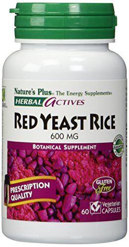 Nature's Plus - Herbal Actives Red Yeast Rice 600 mg. - 60 Vegetarian Capsules Test