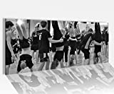 Acrylglasbild 100x40cm schwarz weiss Sport Kopfstand Aerobik Gymnastik Frauen Fitness Gesundheit Acrylbild Acryl Druck Acrylglas Acrylglasbilder 14A9071, Acrylglas Größe1:100cmx40cm