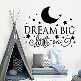 Cartoon Dream Big Little One Vinile Citazioni Wall Sticker Decor Per Baby Room Camera dei bambini Decorazione Adesivi murali M58cm X 73cm