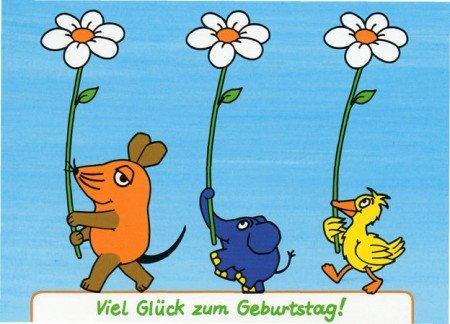 Die Maus GeburtstagsPOSTkarte Parade