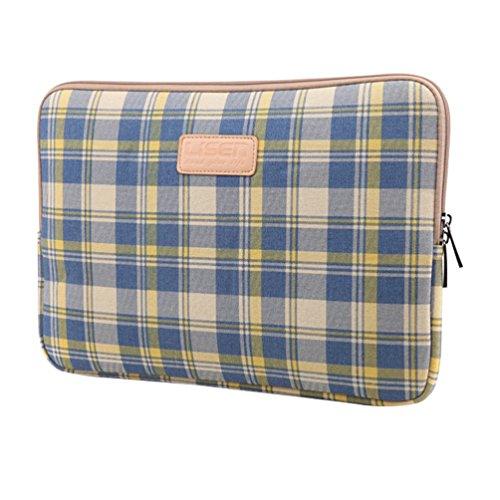 Baymate Unisexe Plaid Classique Housse Sacoche Pochette Pour Macbook / Ordinateur Portable 11.6-15 Pouces