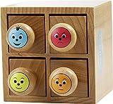 """Stempelset """"Smileys"""" in einer Holzbox"""