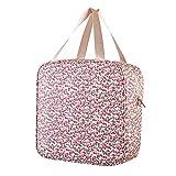 Westeng 1pcs Sac à déjeuner Isotherme en Tissu Oxford Étanche Motif Floral carré Sac Fraîcheur Portable Sac Repas Lunch Bag pour Ecole Bureau Pique-Nique (L)