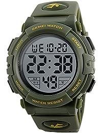77dc35cb89c9 FeiWen Reloj Hombre Outdoor Militar Tácticas 50M Impermeable Digitales LED  Electrónica Multifuncional Deportivo Relojes de Pulsera