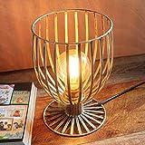Seven stars Wasserpfeife Licht Schmiedeeisen - TD0831 Studio Coffee Study Room Kreative Eisen Nordic Einfache Tischlampe (Farbe : Vintage Gold)