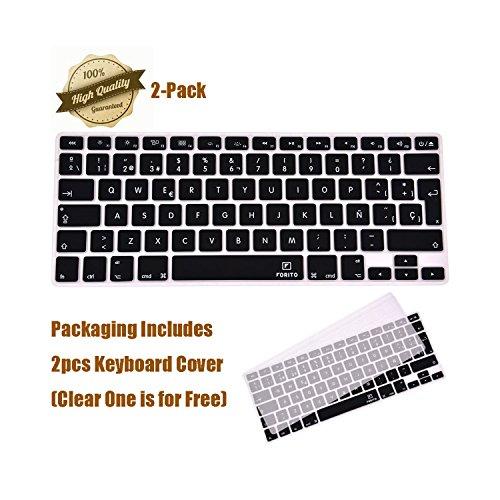 Ultrafina funda de silicona para teclado Protector de la piel (Europa disposición) para MacBook Pro 13