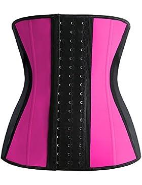 FeelinGirl - Corsé de moldeamiento de cintura para mujer, látex Rosa