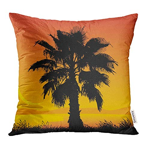 züge, Throw Pillow Covers, Plant Palm Tree Tropical Beautiful Beauty Coco Exotic Grass Hawaii Print Pillowcases 18