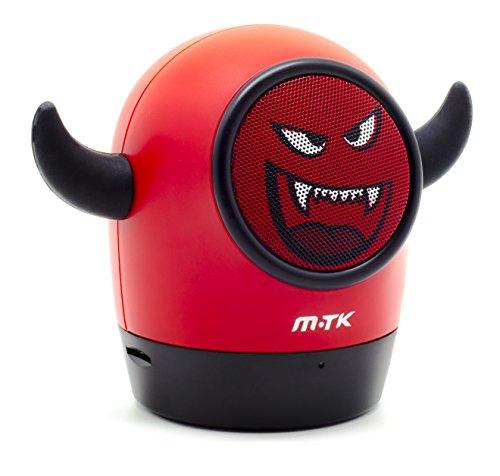 Moveteck Mini Bluetooth Lautsprecher Speaker Portable 10 Stunden Spielzeit, Stark Bass Halloween Devil Teufel (Halloween 10 Stunden)