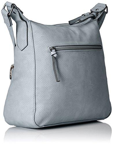 Tamaris Damen Adriana Hobo Bag S Umhängetasche, 12x29x25 cm Blau (Light Blue)
