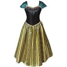 Ducomi® Princess - Vestito Elegante para Niñas - Perfecto para Festas, Halloween, Carnaval y Regalo de Cumpleaños - No Disney (Clásico, 120 cm)
