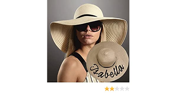 CASA CLAUSI Sun Hats for Women Foldable Beach hat Wide Brim