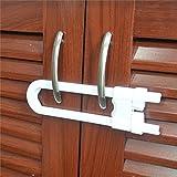 yuver (TM) nueva 1pcs niño infantil bebé Kid seguridad cajón puerta Gabinete Armario Forma de U Lock Nuevo bebé seguridad