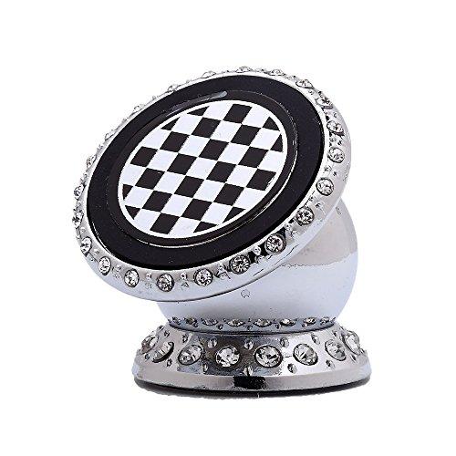 ZantecAuto Handy Halterung Befestigung selbstklebend mit Strass Magnet Silber