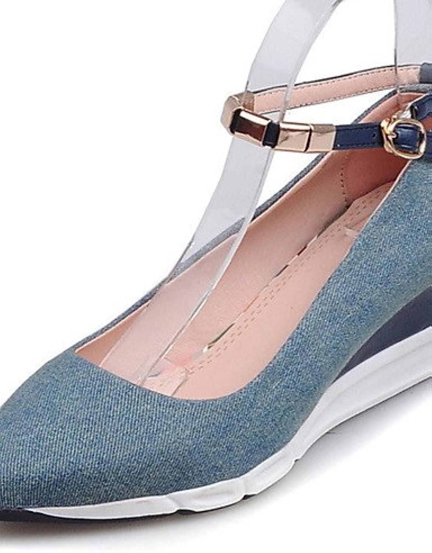 ZQ Zapatos de mujer-Tac¨®n Cu?a-Cu?as / Tacones / Innovador / Puntiagudos / Punta Cerrada-Tacones-Exterior / Vestido...