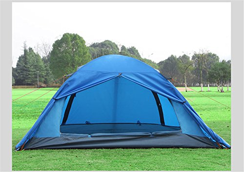 HONEYY Piscine en Aluminium Ultra-léger Double Double Pôle tentes 2 Pluie Défense Jupe Neige Tente de Camping 40 +140 +40 * 2100 * 110 cm Escalade