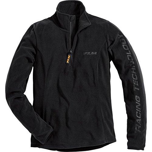FLM Fleeceshirt Damen Fleece Shirt 1.0, Fleecepullover Damen, tragangenehmes Microfleece, farbig abgesetzte Details, schwarz, S