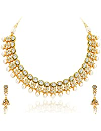 Sukkhi Ravishing Gold Plated Kundan Necklace Set For Women