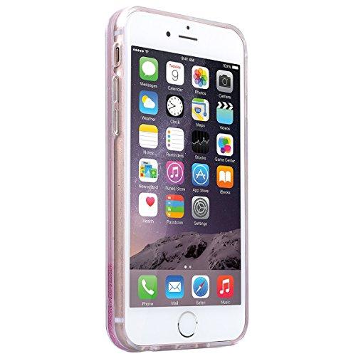 SMART LEGEND iPhone 6S Plus / iPhone 6 Plus Weiche Silikon Hülle Durchsichtig Glatt Glitzer Weich TPU Handy Tasche Soft Case Bumper Schutzhülle Transparent Hülle mit Weiß Muster Handyhülle Crystal Kir Parfüm Flasche