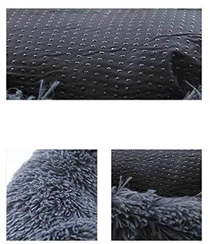 Panier Chien,Lit pour Chien,Panier pour Chien,Panier Lit pour Chien Chat Animaux Favoris Coussin Imperméable Amovible Lavable en Machine,Coussin Taille Petite Moyenne Grande-XL:80x80x20cm-Gris 2