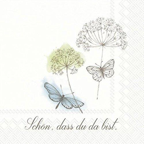 'Su Almuerzo de servilleta Schön el Du Da Bist ' 33x33 cm