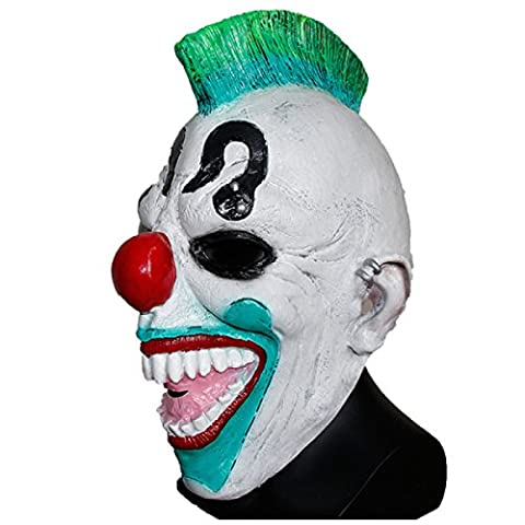 Deluxe Mask With Hair Clown Fancy Dress