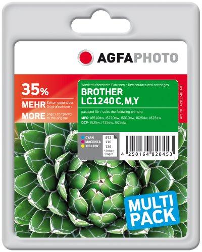 Preisvergleich Produktbild AgfaPhoto APB1240TRID Toner für Brother MFCJ6510 (3) 1 x 972 cyan 1 x 776 magenta, 1 x 736 gelb Seiten