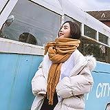 IYBLHDF Doppelseitiger Schal für Damen, mit Kaschmir, Quaste, doppelseitig, verdickend, warm, weich Gr. Einheitsgröße, Long-haired Turmeric