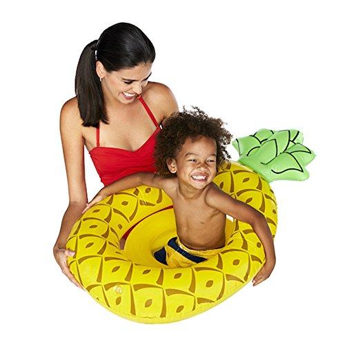 Baby swimming float baby seat galleggiante ananas gonfiabile, ciambella, piscina a sirena galleggiante baby summer water fun pool toy kids swimming ring,c