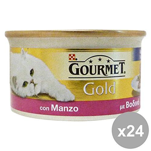 Set 24 GOURMET Gold mousse manzo 85 gr. - La comida para gatos