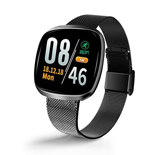 Smartwatch , Fitness Tracker Kinder Schrittzähler uhr Damen Voller Touchscreen Wasserdichtes Bluetooth Sportuhr Smart Watch Herren Laufen Mit Pulsmesser Schlafmonitor Armbanduhr Uhr für IOS/Android