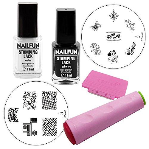 NAILFUN Kit de Estampado Uñas para Principiantes