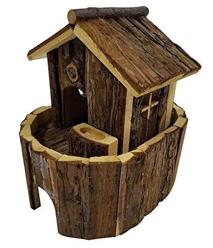Dehner - casetta per roditori noah, ca. 22,5 x 21,5 x 17 cm, in legno di abete, colore naturale