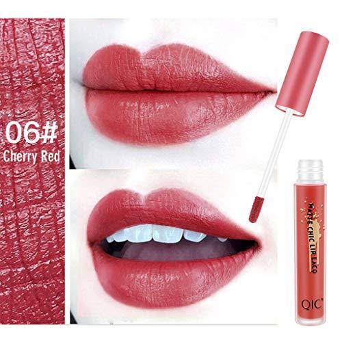Lipgloss,Förderung,PorLous 2019 Neu Schönheit Matte Sexy Liquid Lip Gloss Langlebig wasserdicht 24 Stunden halten Feuchtigkeitsspendend Dauerhaft 6