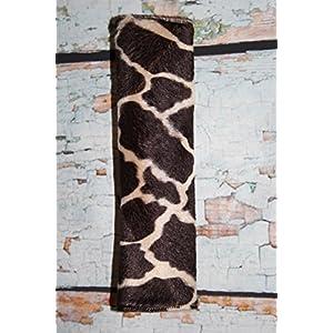 Auto Gurtpolster für Kinder und Erwachsene Kunstfellimitat Giraffe