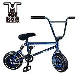 Mini BMX Freestyle Bike–Licht Fat Reifen mit Profilsenkereinsätze Kurbel & Spring Zubehör für PRO zu Anfänger–Diese Bad Boy Fahrräder sind ideal für Stunt Trick & Racing (Blue Splash) von Ride 858