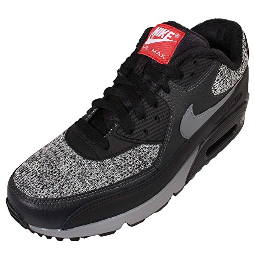 Nike Air Max 90 Essential, Chaussures de running homme Negro / Gris / Rojo (Blk / Cl Gry-Anthrct-Unvrsty Rd)