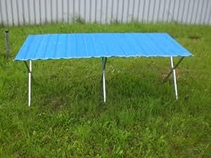 Tavolo pieghevole con falda rollabile 2m x 1,2m per mercatini settimanali, mercati delle pulci, feste e tante altre occasioni
