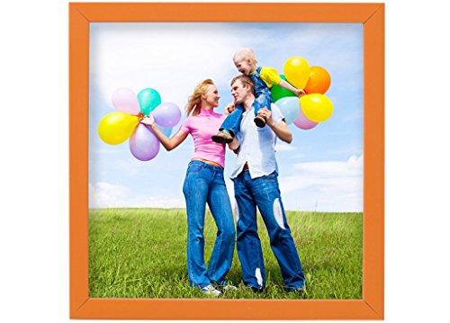Holz - Rahmen für Bilder quadratisch 10x10 15x15 20x20 25x25 30x30 40x40 50x50 Rahmen zum Aufhängen Farbe Dunkel-Orange - Format 20x20