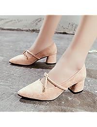 GAOLIM En La Primavera De Punta Con Un Solo Zapato Bold Y Luz Alta Heel Shoes Alumnas Zapatos Zapatos Salvajes...
