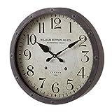 Reloj de Pared de Metal Gris Industrial para salón Factory - LOLAhome