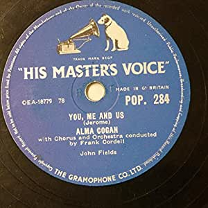 78rpm ALMA COGAN you me and us / three brothers