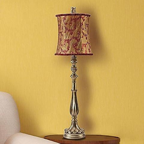 KHSKX Lampada da scrivania di lusso soggiorno studio, tessuto squisito modello, resina e lampada a (Modello Di Olio Di Vetro Lampada)