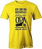 Jayess Ich Bin Ein Motorrad Fahrender Opa - Herren T-Shirt in Gelb by Gr. XXXL