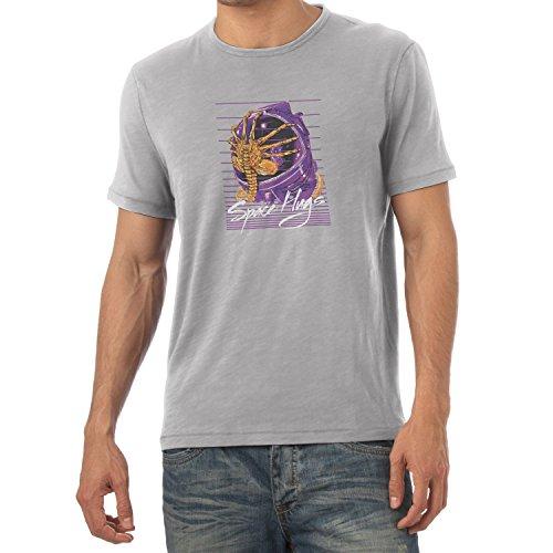 NERDO - Space Hugs - Herren T-Shirt Grau Meliert