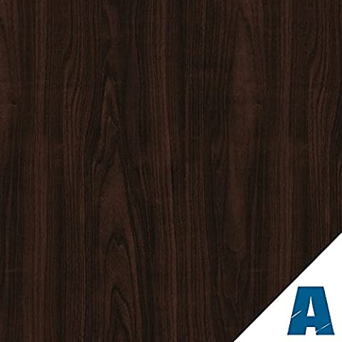 Artesive WD-012 European Walnut Dark 60 cm x 2,5mt. (23.6 in x 8.20 ft)- Woodgrain Effect Self Adhesive Vinyl Film for home interior decoration, furnitures, door and all smooth