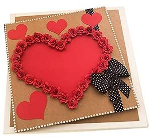 Crack of Dawn Crafts Paper Album (4 x 6 inch, Red)