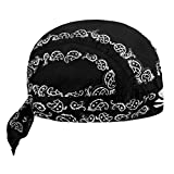 FakeFace Kopftuch für Damen Herren Bandana Cap Hut Sport Kopfbedeckung Piratenmütze Hip Hop Cap Stirnband aus Atmungsaktive Baumwolle(Schwarz)