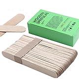 Cebbay Salon ceretta depilazione cera grande spatola in legno applicatore 6x 3/10,2cm, Wood, 50 PCS